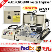 4 Axis Usb Cnc 6040 Router Milling Machine Engraver 1500w Engraving Drilling Kit