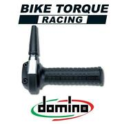 Domino Ghepard Chrome Throttle With Black Grips To Fit Fantic Bikes
