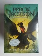 Percy Jackson And The Olympians Series 5 Paperback Box Set W/poster - New/sealed