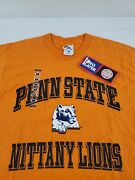 Nwt Penn State Nittany Lions Pro Player Orange Menand039s Graphic Tee T-shirt Nos Vtg