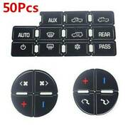 50set For Gm 2007-14 Vehicles Decal Stickers Ac Dash Button Repair Kit Universal