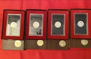 1 1972 Eisenhower Silver Dollars Us Proof In Brown Box - Up To 4 Available