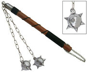 New Medieval Gladiator Weapon Double Spiked Metal Mace Ball Flail Morningstar