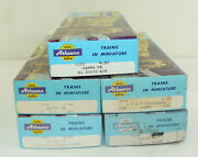 Lot 5 Athearn Trains In Miniature Ho Scale Santa Fe Baggage Passenger Dummy Cars