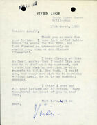 Vivien Leigh - Typed Letter Signed 03/17/1962