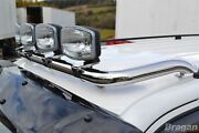 Roof Bar + Clamps For Iveco Daily 1999-2006 Stainless Steel Spot Lamp Light Bar