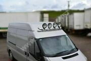 Roof Bar + Jumbo Black Spot Lamps For Iveco Daily 1999-2006 Steel Top Light Bar