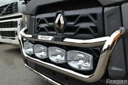 Grill Bar + Step Pad + Side Led For Renault C Range Standard Cab Stainless Steel