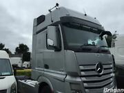 Side Mirror Covers For Mercedes Actros Mp4 Truck Shiny Abs Plastic Chrome-bottom