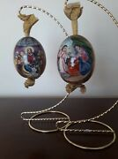 Pair Of Fine 19th Antique Russian Porcelain Easter Eggs In Excellant Condition
