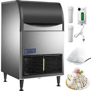 Vevor Snow Flake Ice Maker Automatic Flake Ice Maker 132lbs/24h, Stainless Steel