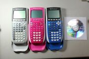 Texas Instruments Ti-84 Plus Silver Edition Pink Blue Graphing Calculator Ti84+