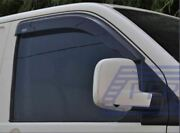 Window Deflectors For Fiat Doblo 2010+ Wind Sun Protector Smoked Tinted Adhesive