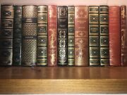 Faux Leather Books For Decoration Dracula Chaucer Plato Turgenev Frankenstein ..