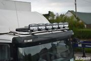 Roof Bar + Leds + Spot Lights For Mercedes Axor Low Cab Stainless Steel Truck