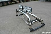 Roll Bar + Jumbo Spots For Mitsubishi L200 2015+ Polished Stainless Steel Bar