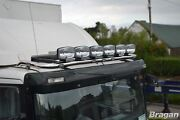 Roof Bar + Leds + Spot Lights For Scania 4 Series Low Day Truck Stainless Steel