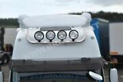 Roof Bar + Spot Lamp Light For Foden Alpha High Cab Chrome Stainless Front Truck