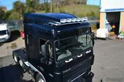 Roof Bar + Leds + Jumbo Spots + Clear Beacon For Daf Xf 95 Space Cab Truck Steel