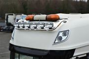 Roof Bar + Leds + Spot Lights For Daf Xf 105 Superspace Truck Stainless Steel