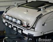 Roof Bar + Spot Lights + Clear Beacons For Man Tga Xlx Cab Stainless Steel Truck