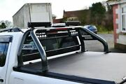Roll Bar + Light Bar + Beacon + Rollback Tonneau Cover For Vw Amarok 2016+ Black