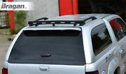 Rear Roof Beacon Light Bar + Leds For Isuzu D-max Rodeo 12 - 16 Paintable Black