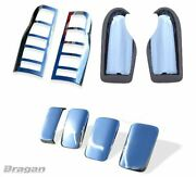 Mirror + Door Handle + Tail Light Chrome Trim For Ford Transit 07 - 14 Cover Set