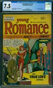 Young Romance 1 Cgc 7.5 - Ow/w Pages