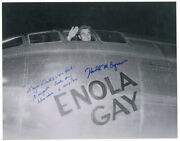 Enola Gay Crew Theodore Van Kirk - Photo Signed Co-signed By Harold M. Agnew
