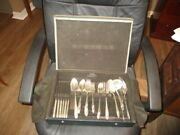 Tudor Plate By Oneida Community Silversmiths 58 Pieces Complete Set And Case Vg