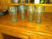 Coca Cola Drinking Cups Plastic Tumbler Glasses Jade Green 16oz Set Of Two