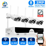 Cctv Camera System Audio Record 8ch Nvr Hd 3mp Outdoor P2p Wifi Ip Security