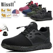 Men's Work Safety Shoes Steel Toe Caps Boots Indestructible Breathable Footwear