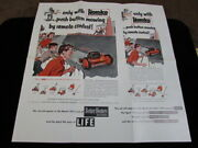 Homko Remote Control Lawn Mower Push Button Advertising Paper Vintage 1952