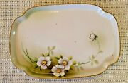 Antique Nippon Small Dresser Vanity Tray Hand Painted 7' X 5 1/2