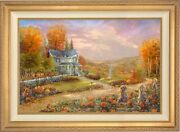 Thomas Kinkade Studios Autumn At Apple Hill 28 X 42 S/n Framed
