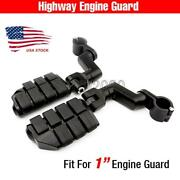 Black 1 Engine Guard Bar Highway Foot Pegs For Honda Gold Wing Goldwing Gl