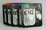 Kirkland Menand039s Golf Gloves Premium Cabretta Leather 4 Pack Free Shipping S-xl