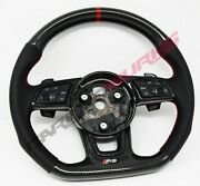 Audi Rs3 Rs4 Rs5 2017+ Carbon Fibre Steering Wheel - Customisable Options