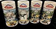 Coors Beer Mugs The Rocky Mountain Legend Set Of Four Tankards