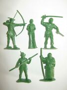 Marx Robin Hood 60 Mm Recasts 9 In 9 Poses Made 1980and039s Excellent Condition Set 2