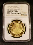 1970 Gold Central America Republic Proof 50 Peso Proof Coin - Ngc Pf66 Uc