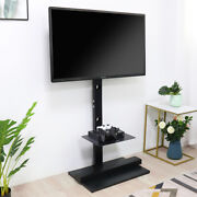 Tv Floor Stand Mount With Component Shelf For 32-65 Led Lcd Max Vesa 400x600mm