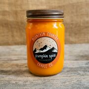 Pumpkin Spice Scented Candle - 12 Oz. Jar Hand Poured Fall And Autumn Scent