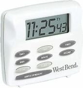 West Bend Easy To Read Digital Magnetic Kitchen Timer Features Large Display