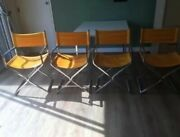 Robert Kjer Jakobson By Virtue Brothers Made In Ca Chrome Director Chairs/table