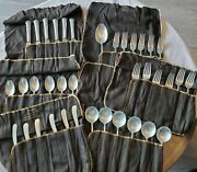37 Pieces Vintage Towle Sterling Silver Chippendale Pattern.6 Setsandserving Spoon