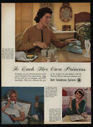 1961 Princess Retro Rotary Bell Telephones - Blue - Pink - White - Vintage Ad