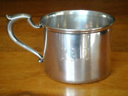 Antique S. Kirk And Son Sterling Silver Baby Cup With Andldquoradandrdquo Monogram